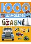 Obálka knihy 1000 samolepek úžasné stroje
