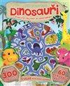Obálka knihy Dinosauři - prehistorický svět se samolepkami