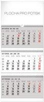 Obálka knihy Nástěnný kalendář 3 měsíční standard skládací CZ 2019