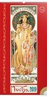 Obálka knihy Nástěnný kalendář Alfons Mucha 2019, 33 x 64 cm