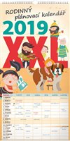 Obálka knihy Nástěnný kalendář Rodinný plánovací XXL 2019