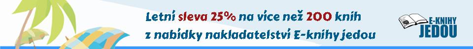 E-knihy jednou se slevou 25%