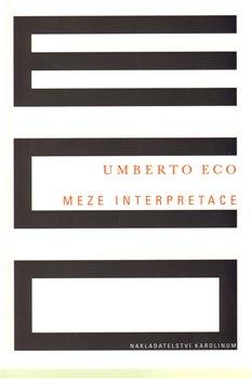 Obálka titulu Meze interpretace