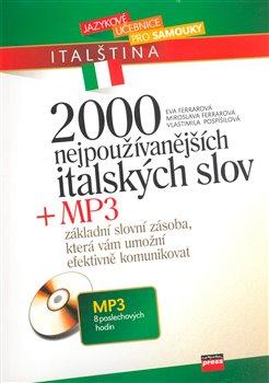 Obálka titulu 2000 nejpoužívanějších italských slov + MP3