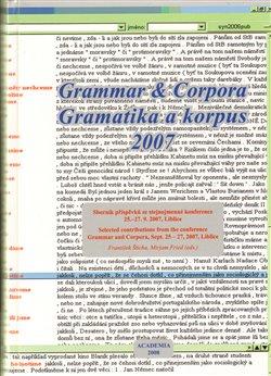 Obálka titulu Gramatika a korpus 2007