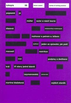 Obálka titulu Rukopis 5/2008; Revue o psaní