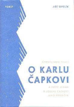 Obálka titulu Čtrnáctero prací o Karlu Čapkovi a ještě jedna o Josefu Čapkovi