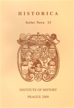 Obálka titulu Historica. Series Nova 13