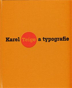 Obálka titulu Karel Teige a typografie