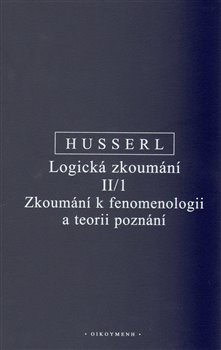 Obálka titulu Logická zkoumání II/1