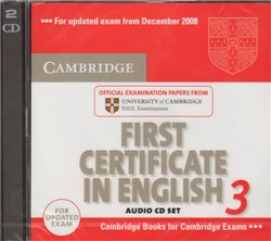 Obálka titulu Cambridge First Certificate in English 3 for Updated Exam Audio CDs