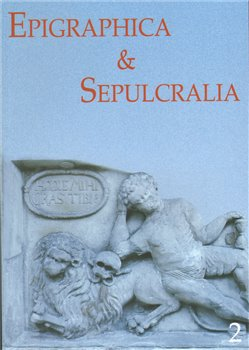 Obálka titulu Epigraphica et Sepulcralia 2