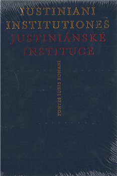 Obálka titulu Iustiniani Institutiones, Justiniánské instituce