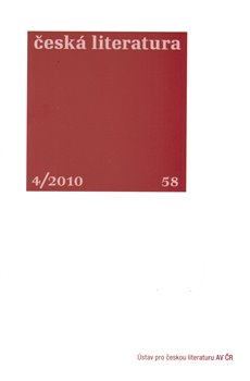 Obálka titulu Česká literatura 4/2010