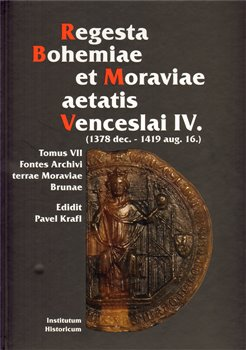 Obálka titulu Regesta Bohemiae et Moraviae aetatis Venceslai IV.