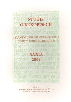 Obálka titulu Studie o rukopisech 39