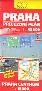 Praha. Průjezdní plán + centrum 1 : 65 000