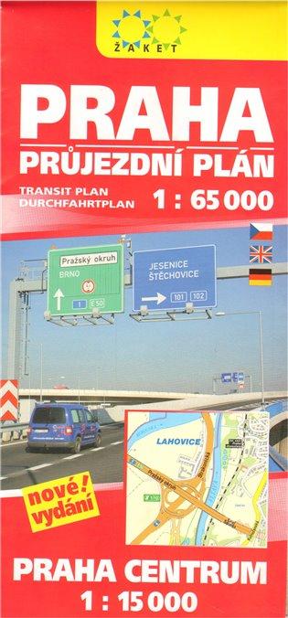 Praha. Průjezdní plán + centrum 1 : 65 000 - - | Booksquad.ink