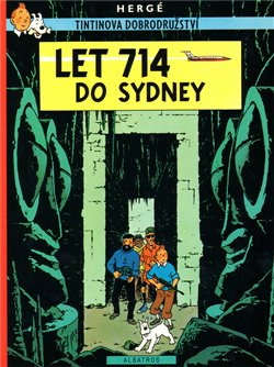 Obálka titulu Tintin - Let 714 do Sydney
