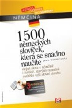 Obálka titulu 1500 německých slovíček, která se snadno naučíte