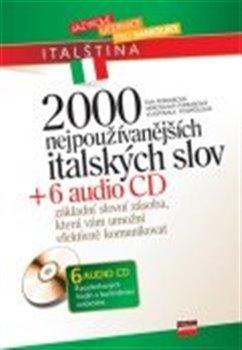 Obálka titulu 2000 nejpoužívanějších italských slov + 6 audio CD
