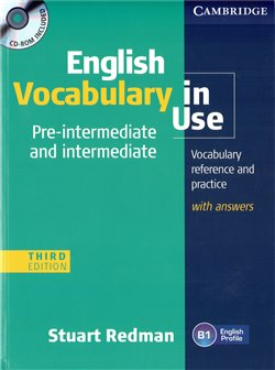 Obálka titulu English Vocabulary in Use Pre-intermediate and Intermediate Third edition with answers and CD-ROM