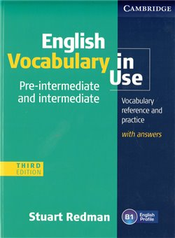 Obálka titulu English Vocabulary in Use Pre-intermediate and Intermediate Third edition with answer