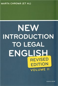 Obálka titulu New Introduction to Legal English II.