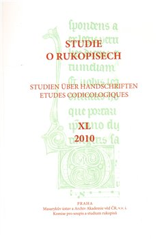 Obálka titulu Studie o rukopisech 40