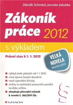 Obálka titulu Zákoník práce 2012 - s výkladem