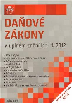 Obálka titulu Daňové zákony v úplném znění 2012