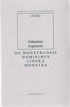 Obálka titulu De monstruosis hominibus/Lidská monstra