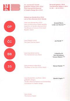 Obálka titulu 25. mezinárodní bienále grafického designu Brno 2012