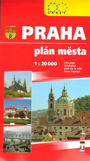 Praha plán města 1:20 000 - -   Booksquad.ink