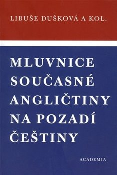 Obálka titulu Mluvnice současné angličtiny na pozadí češtiny