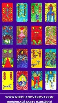 Hrací karty. Jednohlavé karty mariášové - Nikola Nováková
