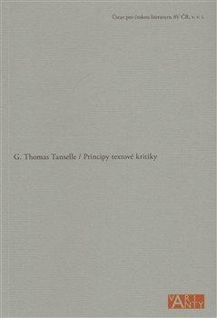 Obálka titulu Principy textové kritiky