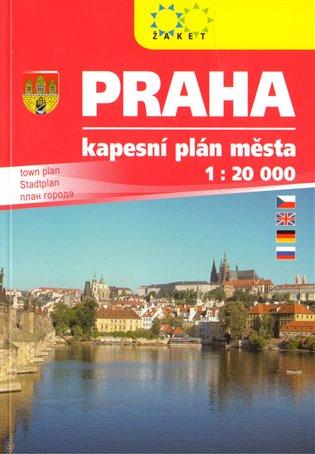 Praha:Kapesní plán města 1:20 000 - -   Booksquad.ink