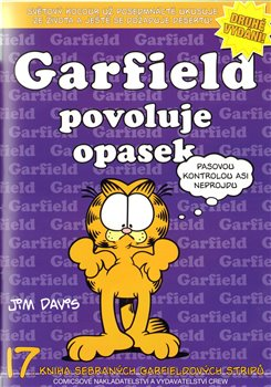 Obálka titulu Garfield povoluje opasek