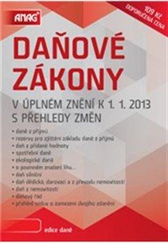 Obálka titulu Daňové zákony v úplném znění k 1. 1. 2013