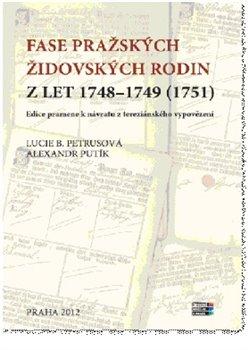 Obálka titulu Fase pražských židovských rodin z let 1748 – 1749 (1751)