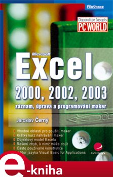 Obálka titulu Excel 2000, 2002, 2003