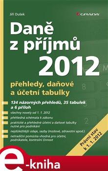 Obálka titulu Daně z příjmů 2012