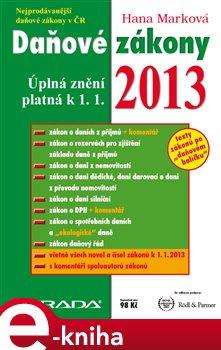 Obálka titulu Daňové zákony 2013