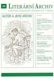 Autor a jeho archiv