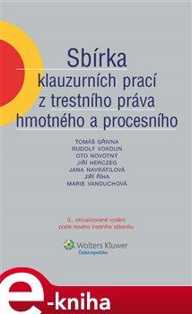 Obálka titulu Sbírka klauzurních prací z trestního práva hmotného a procesního