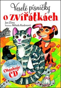 Obálka titulu Veselé písničky o zvířátkách + CD