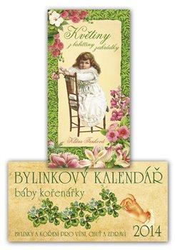 Obálka titulu Bylinkový kalendář 2014 + Květiny z babiččiny zahrádky