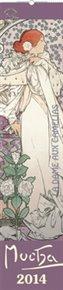 Alfons Mucha 2014 kravata - nástěnný kalendář