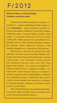 Obálka titulu Klauzury Filmové a televizní fakulty 2012
